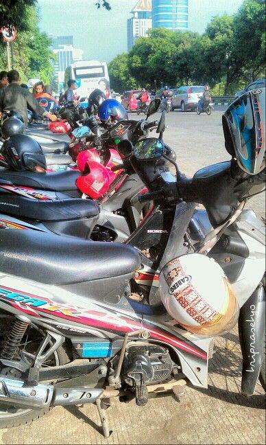 "The Motor Taxi or ""Ojek"" around Cilandak, Jakarta"