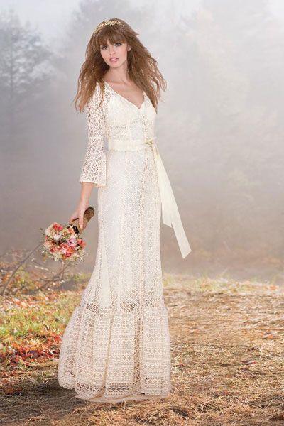 Boho-Chic Wedding Gowns | Wedding Planning, Ideas & Etiquette | Bridal Guide Magazine
