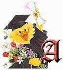 Alfabeto patita recién graduada.