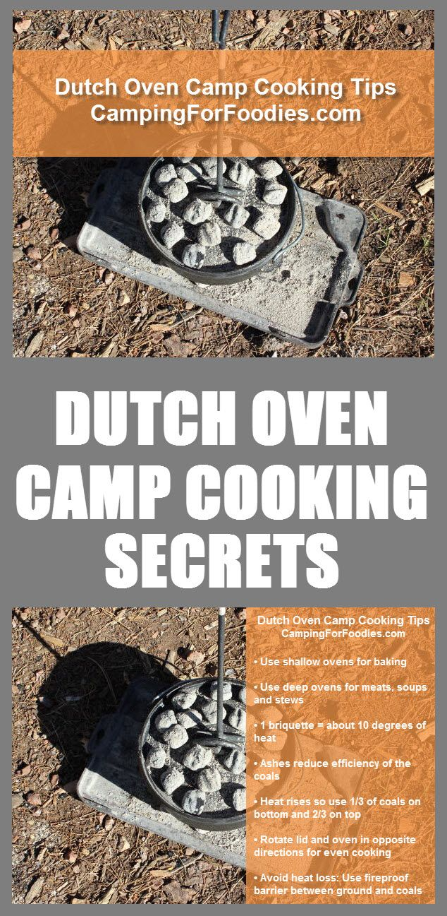 Go Pro With Our Dutch Oven Camp Cooking Tips And Secrets! Cooking in a cast iron Dutch oven at your campsite allows you to get a dose of vitamin D, cook a feast fit for your favorite foodies…all at the same time that you are smelling the fresh pines and h