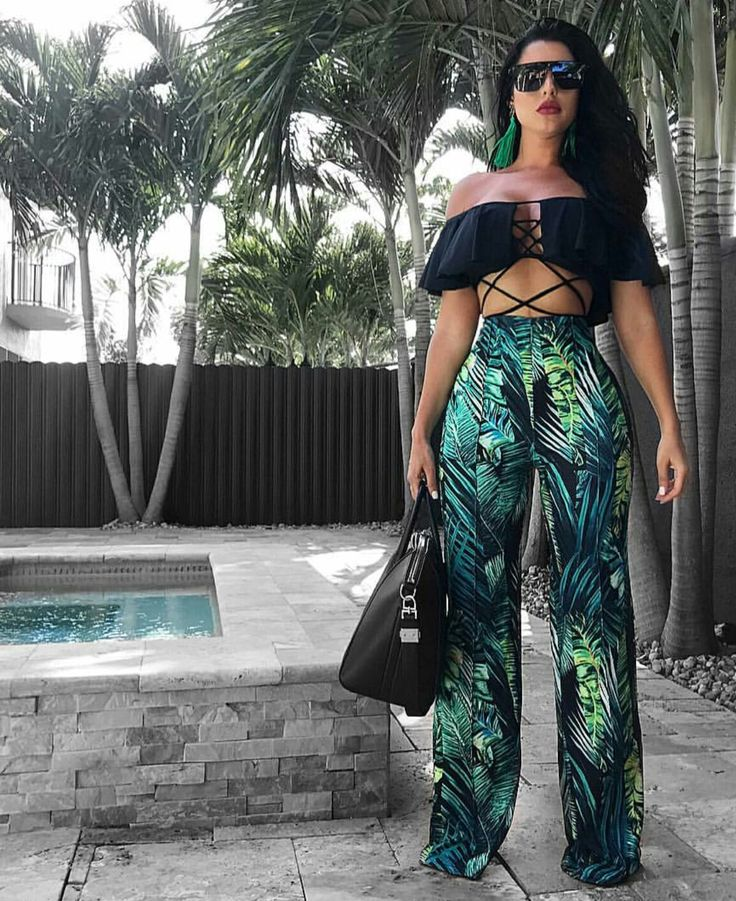 Wide palm pants #Tropical #Summer
