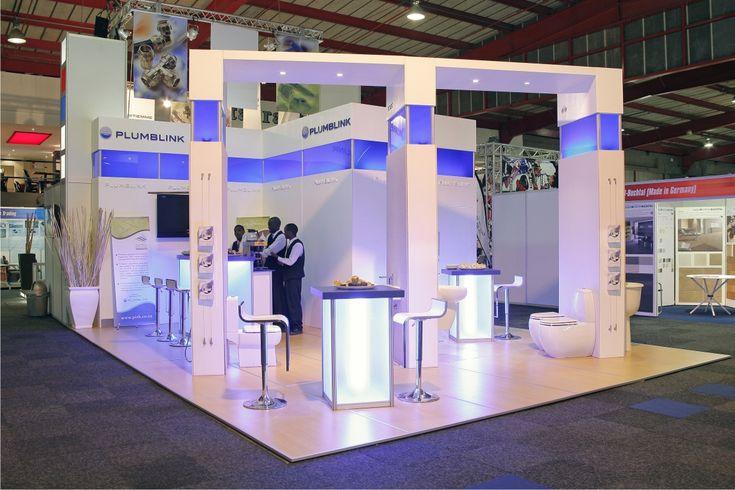 Stunning clean, mod stand with great lighting #exhibition stand  #exhibition design #rubyoriginal