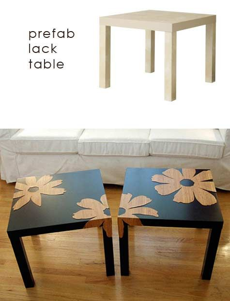 Beautiful DIY Interior Decorating, DIY Furniture Makeovers   They Have Those Tables  At IKEA For Like Seven Bucks Or So