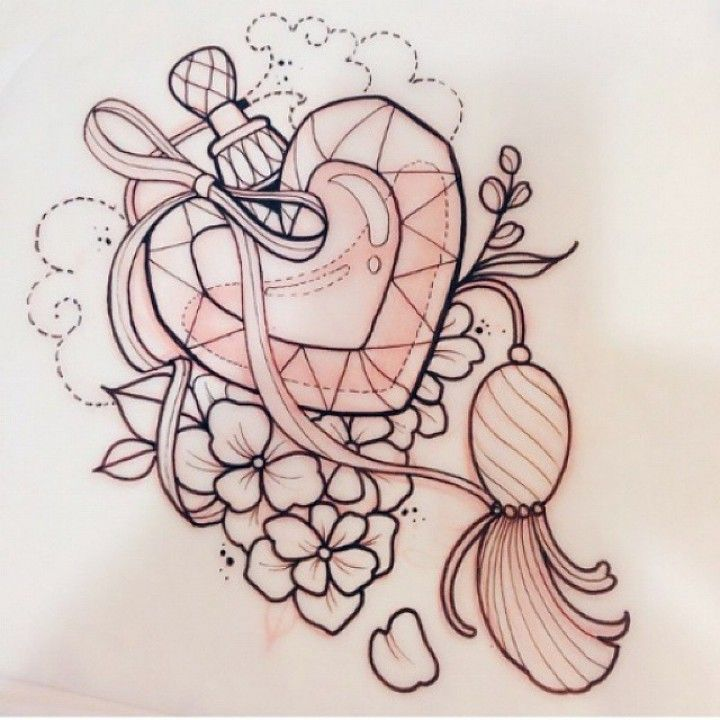 Heart Perfume Bottle tattoo