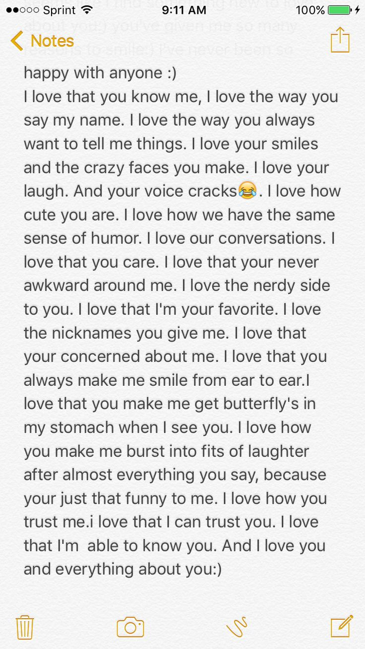 Long notes to write to your boyfriend
