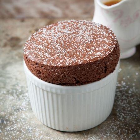 Hairy Biker's Chocolate Orange Souffle - the perfect Dinner party desert.  See redonline for full recipe.