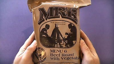 Food And Drink: Mre Menu 6 Meals Ready To Eat Beef Roast With Vegetables -> BUY IT NOW ONLY: $14.99 on eBay!
