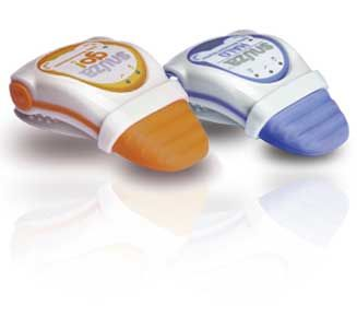 Snuza - Clip this tiny monitor on to your baby's diaper and sleep a little easier.  This monitors their breathing patterns and will alarm with a vibration at 15 seconds then a sound alarm will go off at 20 seconds.  A must have for Baby Boy Bassett on the way!