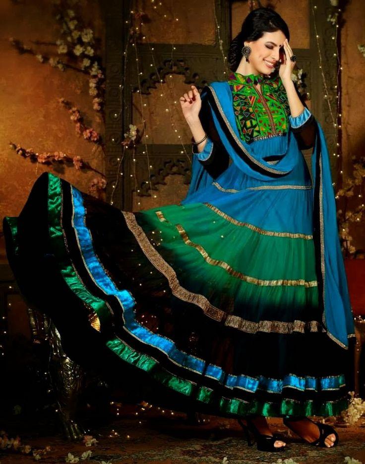 Платья Анаркали Churidar Salwar Kameez костюмы 2014-2015 гг. фото | Модные платья 2015