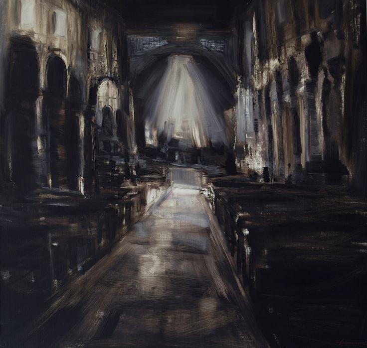 'Chiesa scura', acrilico su tela, 100x100, 2010.