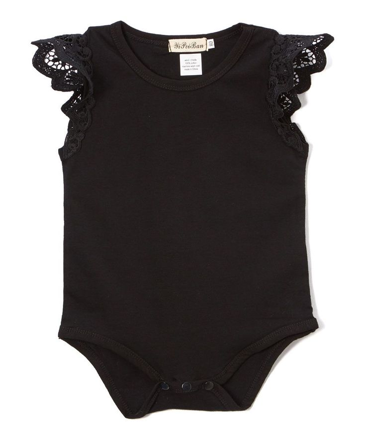 black butterfly bodysuit infant baby girls