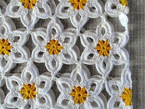 Flowers crochet woman top crochet flowers daisy by SandrasCrochets