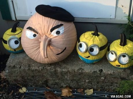 Despicable Me pumpkins. Hope you guys like them - this is hilarious