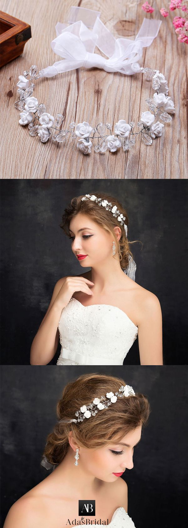 Attractive Alloy Wedding Hair Ornaments With Flowers & Rhinestones