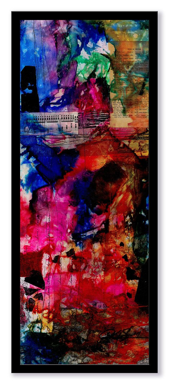 The Love of Music  Large 28.5x11.5 Original by Kathy Morton Stanion