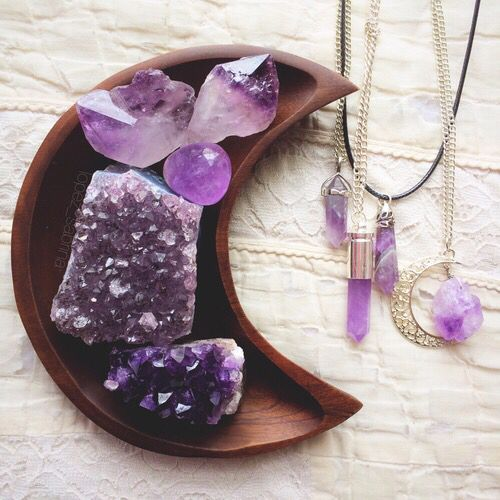 amethyst,my birthstone..even if it wasn't it would still be my favourite because of it's healing and protecting properties and that sexy purple colour that can be light and pretty pastel or dark and dreamy like looking at the depths of the sea..
