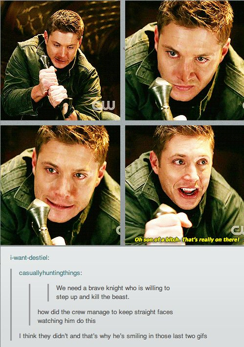 This is one of my FAVORITE Dean scenes. The music is all epic and he's SO sure of himself... LMAO just thinking about it! :D