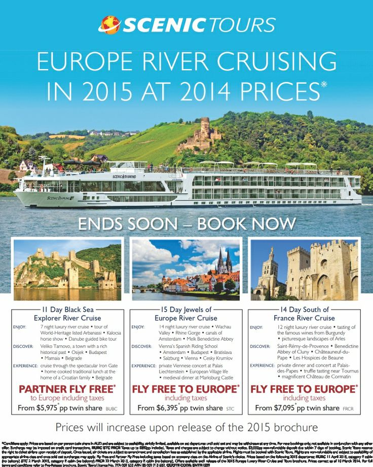 Cruise Europe in 2015 BUT at 2014 prices