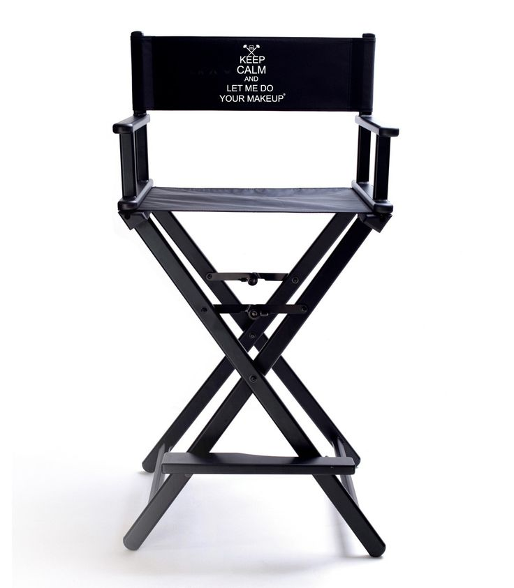 Simply Savvy Co Keep Calm And Let Me Do Your Makeup Directoru0027s Chair Cover    Black