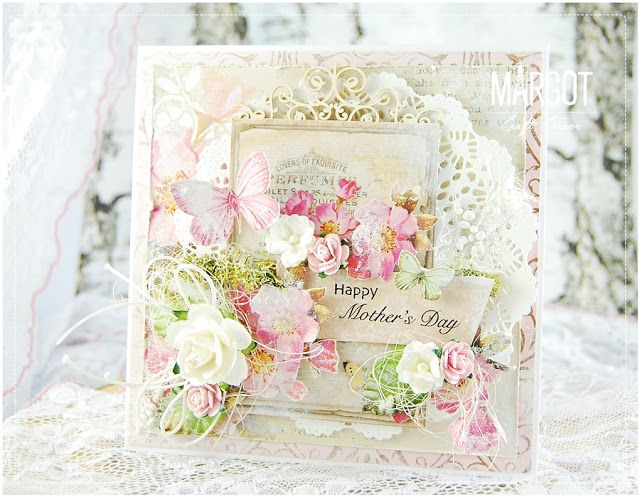 Inspiruje Małgosia: kartki na Dzień Matki - Inspirations from Małgosia: cards for Mother's Day | Lemoncraft