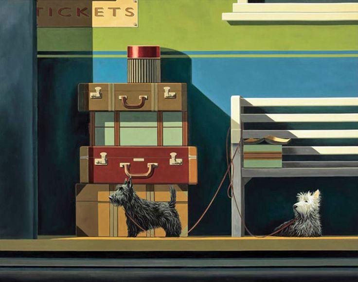 Ross Jones artist 'Travelling Companions' print - Parnell Gallery http://www.parnellgallery.co.nz/artists/ross-jones/