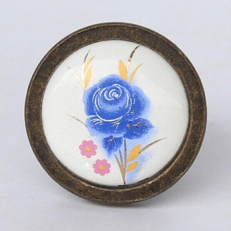 $4.75 (Buy here: https://alitems.com/g/1e8d114494ebda23ff8b16525dc3e8/?i=5&ulp=https%3A%2F%2Fwww.aliexpress.com%2Fitem%2Ffashion-retro-rural-ceramic-furniture-knobs-antique-brass-bronze-cabinet-dresser-handles-knobs-blue-flower-ceramic%2F32727413489.html ) fashion retro rural ceramic furniture knobs antique brass  bronze cabinet dresser handles knobs blue flower ceramic drawer knobs for just $4.75