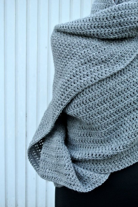 This listing is for a Handmade Grey Multifunctional Crochet Shawl  Its made out of 100% Acrylic.  This is made out of Royal Yarn.  You can fine