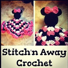 Crochet Minnie Inspired Lovey. Free Ravelry download. By Stitch'n Away Crochet