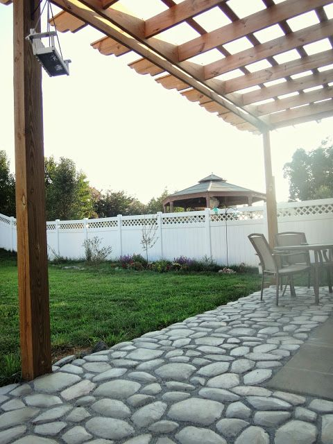 WhispheringWhims | #quikrete #walkmaker   We Finished Phase One Of The Patio  With The