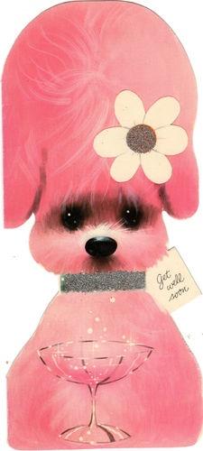Pink poodle vintage