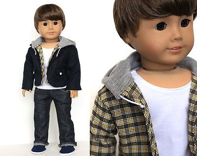 """Isn't he just too cute? Liberty Jane Customized 18 inch American Girl """"BOY DOLL"""" Ebay auction ends 2/15."""