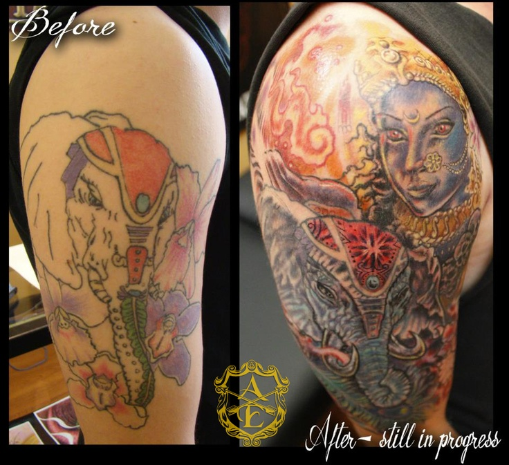1000 images about from bad to badass cover ups on for Brown tattoo ink cover up