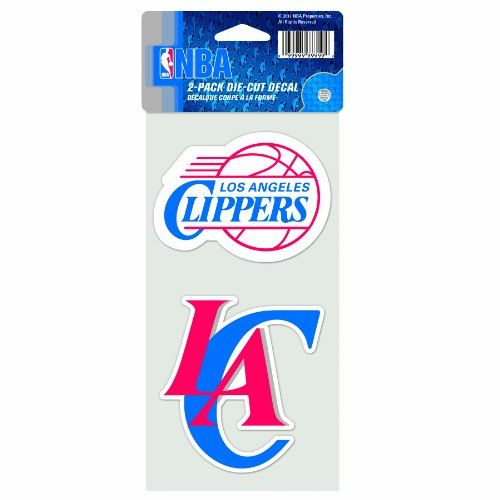 NBA Los Angeles Clippers 4-by-8 Die Cut Decal #Angeles #Clippers #Decal