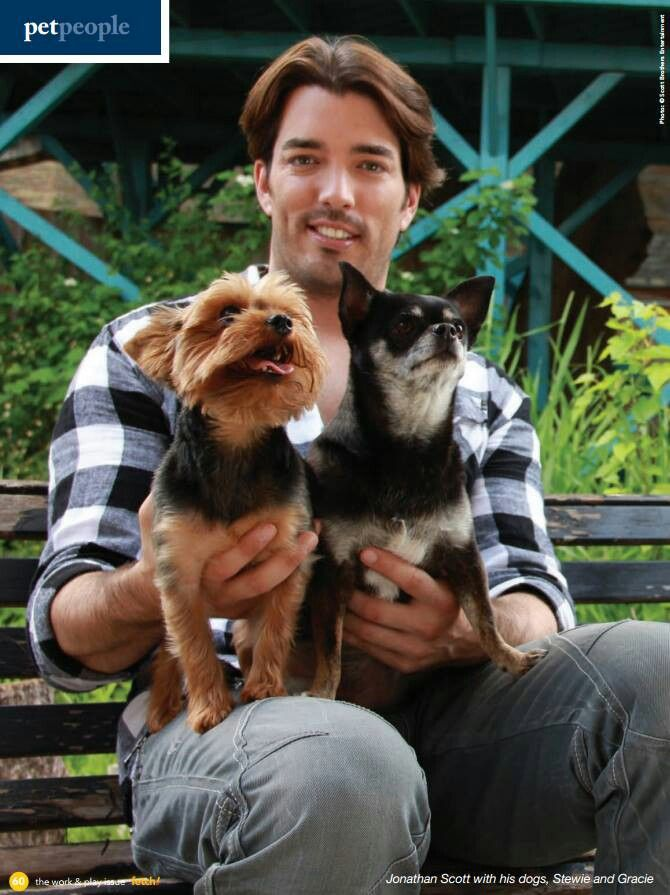 Jonathan scott with his babies the property brothers pinterest
