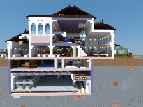 how to make a mansion in minecraft pe