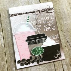 """Gefällt 101 Mal, 16 Kommentare - Alicia Havranek (@crazypaperchick) auf Instagram: """"I'm obsessed and that is all there is to it. This is my card for the Summer Coffee Lovers Blog Hop.…"""""""