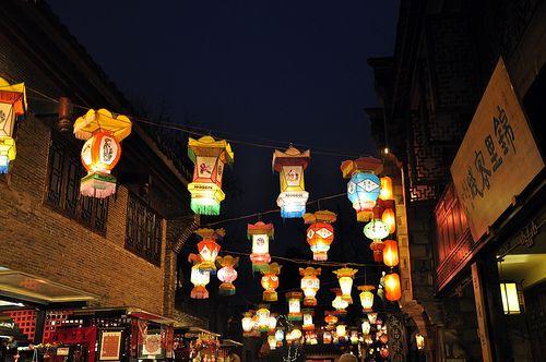 https://flic.kr/p/61FH5X | Jinli Street decorated by laterns , Chengdu, China