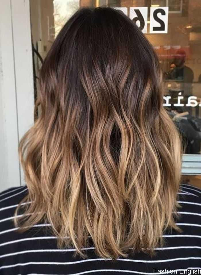 Medium Long Balayage Hair Dark Brown Hairline And Blond Tips Stretched Balayage Blond Summer Hair Color For Brunettes Ombre Hair Blonde Blonde Tips