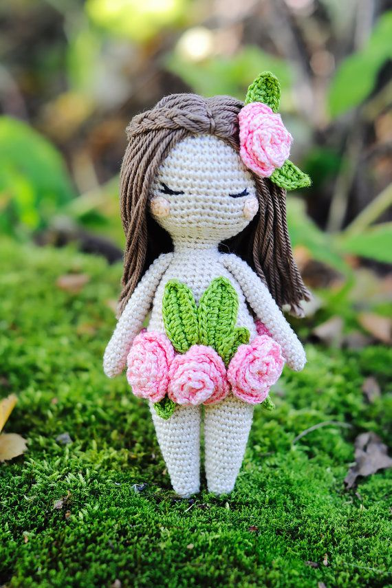 Crochet amigurumi forest nymph fairy doll pattern by yorbashideout