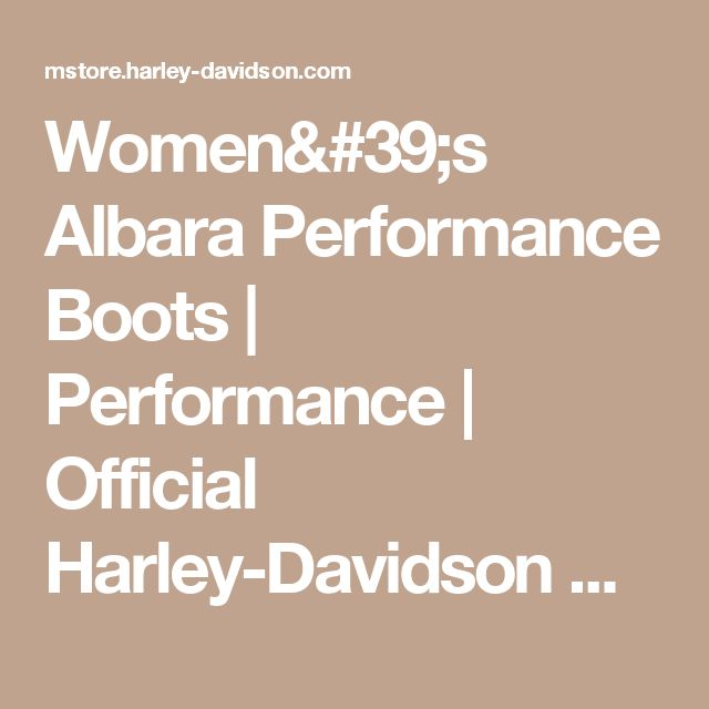 Women's Albara Performance Boots   Performance   Official Harley-Davidson Online Store