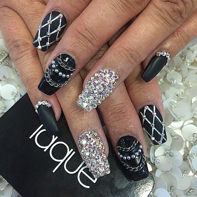 Best 25 bling nails ideas on pinterest acrylic nails coffin photo taken by laquenailbar on instagram pinned via the instapin ios app black partyblack coffin nailsart prinsesfo Images