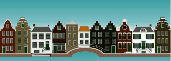 Cute Picture from The a Amsterdam Canal and Its Houses.