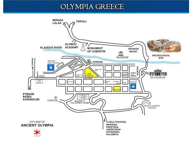 Olympia Greece map