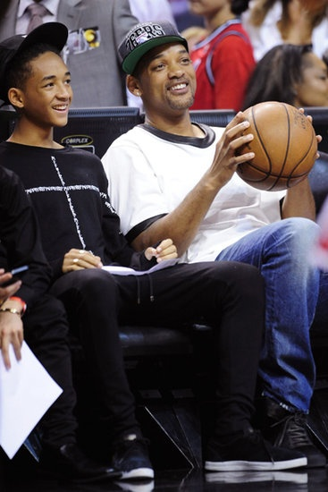 Sixth Man Club? Will and Jaden Smith sat courtside at the Miami Heat playoff game.
