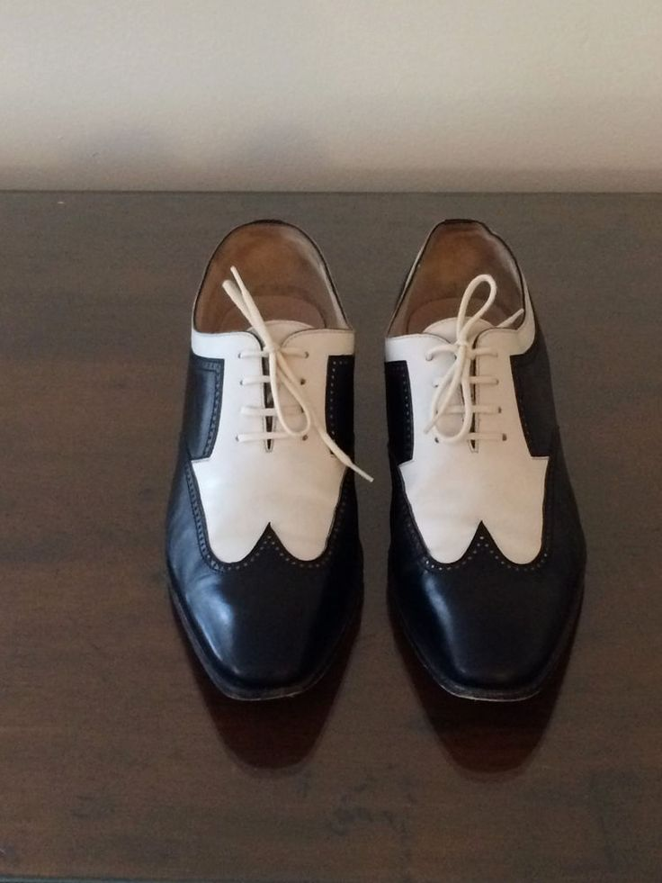 Womens Gravati Black and White Low Heel Spectator Shoes Size 8M Italy Leather in Clothing, Shoes & Accessories | eBay