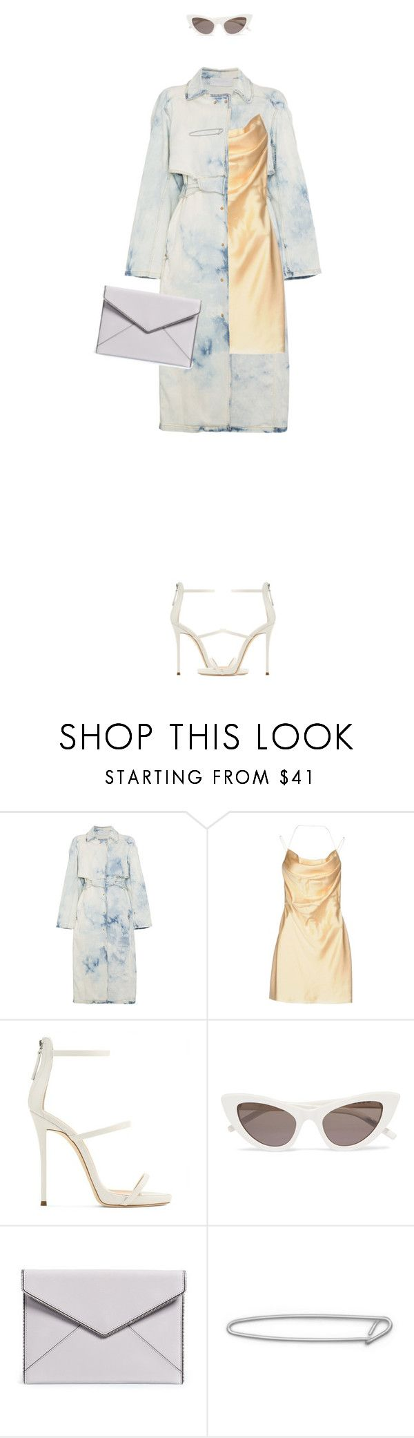 """""""#A Lucky Number"""" by confettio ❤ liked on Polyvore featuring Esteban Cortazar, Yves Saint Laurent, Giuseppe Zanotti and Rebecca Minkoff"""