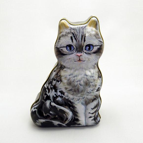 ネコ缶ギフトセット アメリカン・ショートヘア Cat KAN Gift set American Shorthair アメショーが缶に?!