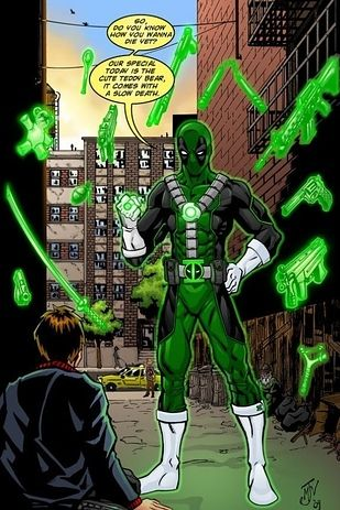 Haha please tell me Deadpool had a lantern ring at least once. Haha worst lantern ever