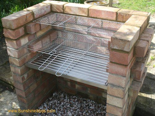 Stainless Steel DIY Brick BBQ Kit Heavy Duty Charcoal Grate & Warming Grill