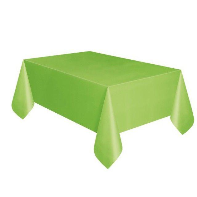 Plastik TischdeckeFarbe: Hellgrünaus leichter dünner Folie - EinwegwareGröße: 137 x 274 cmideale Größe für einen Biertischgarnituroder für kleiner Tische einfach auf die gewünschte Größe kürzen